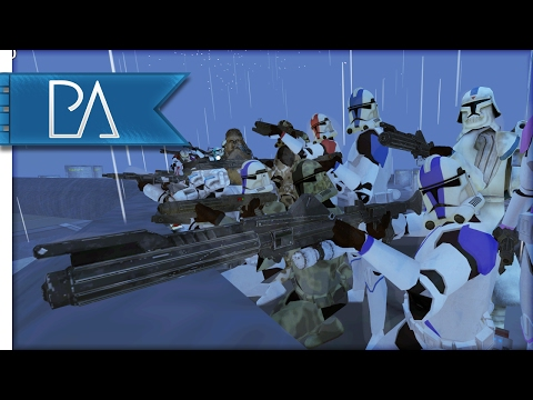 Epic Battle on Mustafar: Stormtroopers vs Clone Troopers - Bear Force II Mod Gameplay