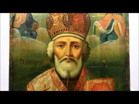 Купить икону Николая Чудотворца? Икона старинная Николай Чудотворец. DR0335