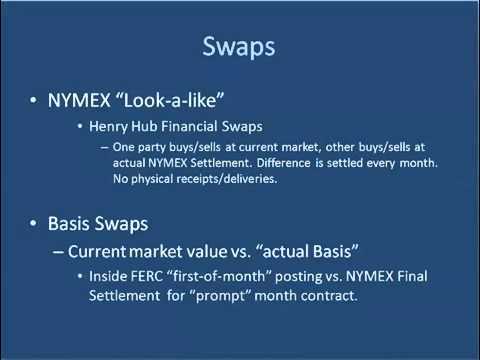 EBF 301 Financial Energy Derivatives - Swaps
