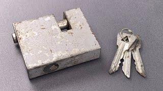 [946] Vintage Soviet Aleksin Shutter Lock Picked