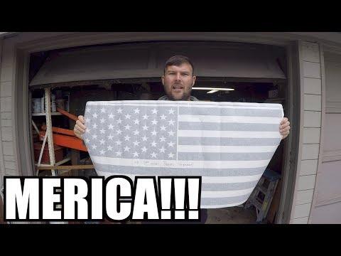 VINYL DECAL INSTALLATION - AMERICAN FLAG