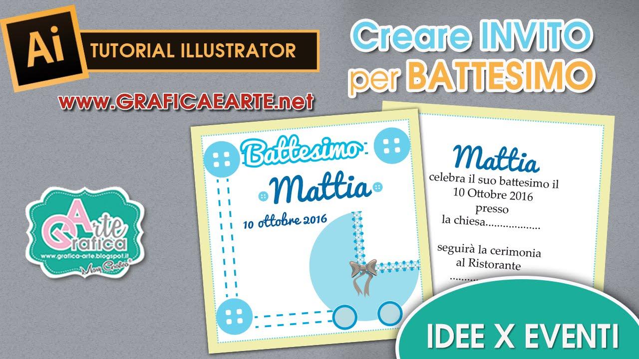 Molto IDEE PER EVENTI - Creare Invito per battesimo - Tut.Illustrator 19  TA94