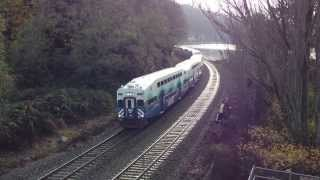Sounder Commuter Train near Picnic Point Park near Lynnwood, WA