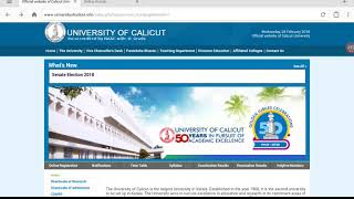 How to download Calicut university exam results.
