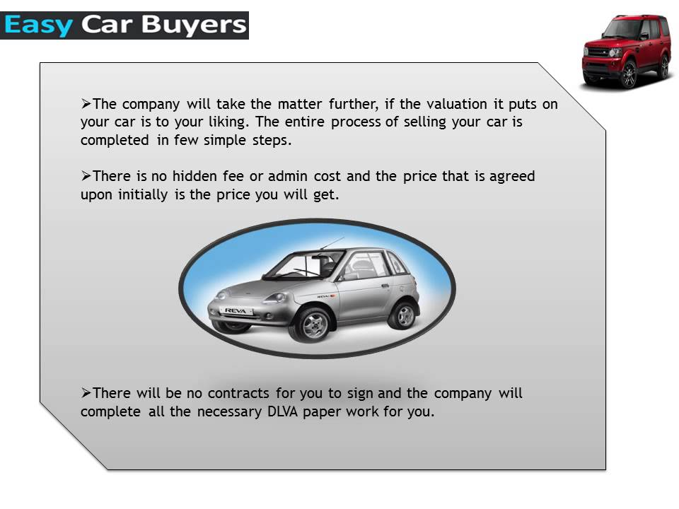 Sell Your Old Car in London with Ease and Convenience with Easy Car ...