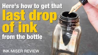 Get that last bit of ink from the bottle (Ink Miser Inkwell review) YouTube Videos