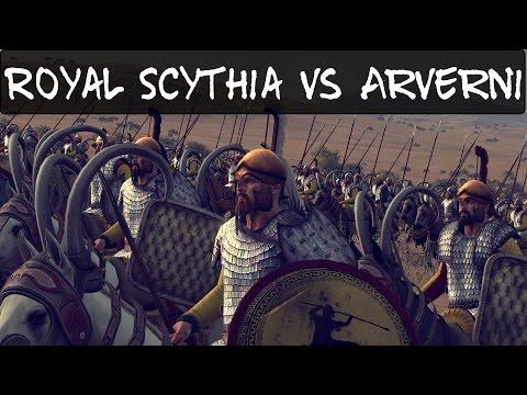 Total War Rome 2 Online Battle 120 Royal Scythia vs Arverni