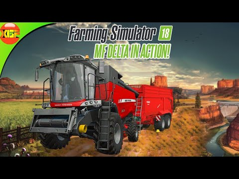 Download First Day on Farm Massey Ferguson MF Delta in Action! Farming Simulator 18 Timelapse Gameplay