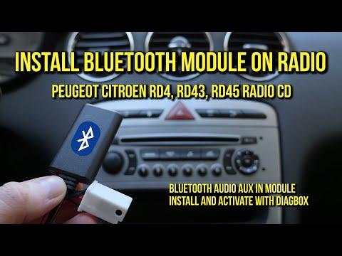 Install Bluetooth Audio Module on Peugeot & Citroen Radio RD4, RD45, RD43