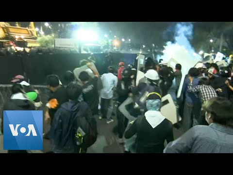 Pro-Democracy Protesters Clash with Police in Bangkok
