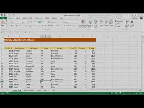 How to Extract Data from a Spreadsheet using VLOOKUP, MATCH and INDEX