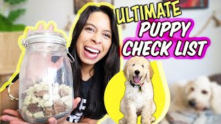 ULTIMATE PUPPY CHECKLIST // EVERYTHING You Need for New Puppy!
