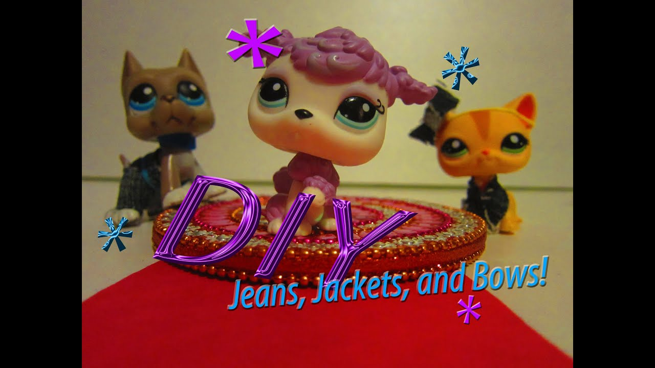 DIY: LPS Cloth (denim), Jacket, and Bow [NO SEW] - YouTube