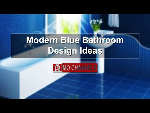 Modern Blue Bathroom Design Ideas