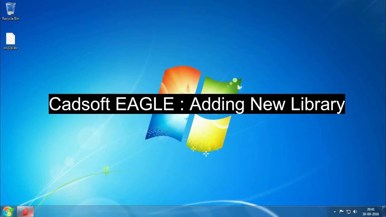 Add New Library to EAGLE CAD 7.0.0 - YouTube
