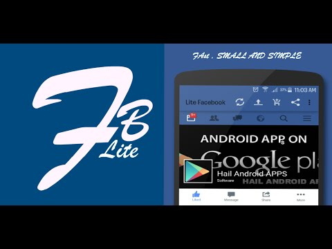 How to Browse Fast and Free Facebook on Android Device  Download Faster For  Facebook (Lite FB)