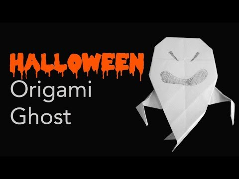Easy Kids Halloween Origami Ghost Tutorial