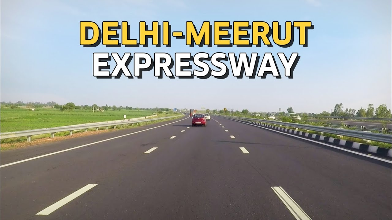 Driving on Delhi-Meerut Expressway