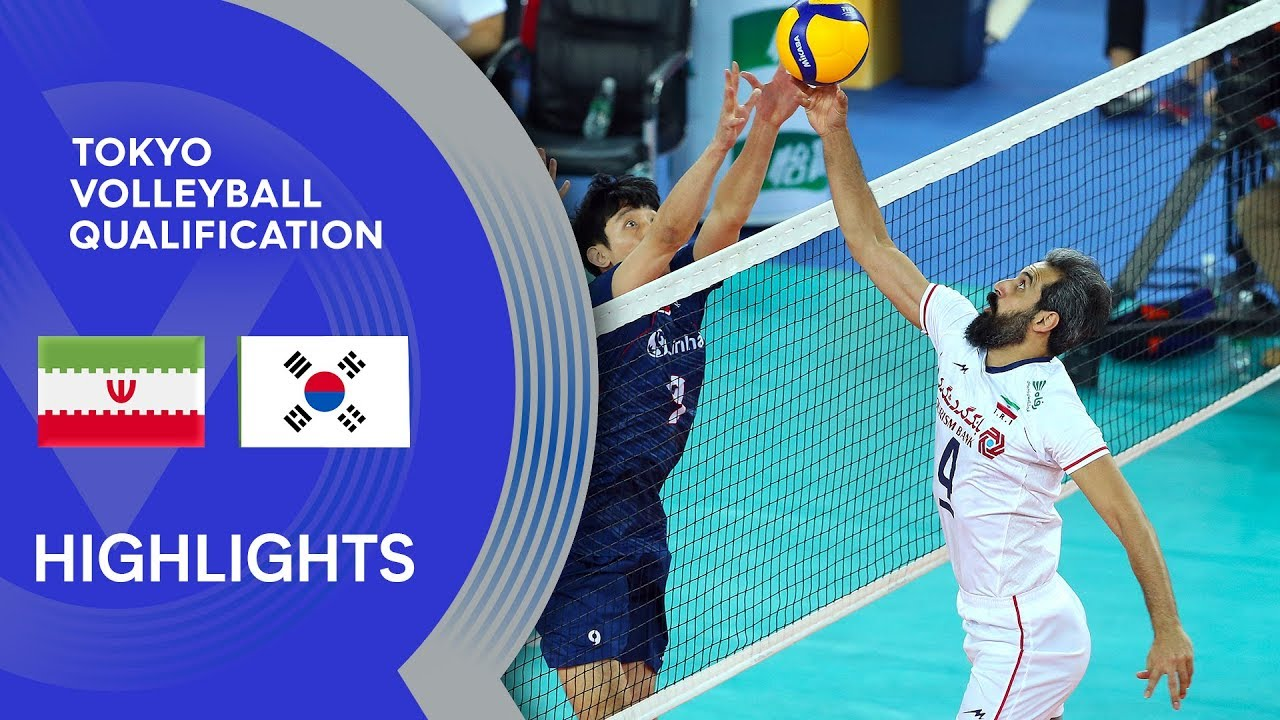 Iran vs. Korea - Highlights | AVC Men's Tokyo Volleyball Qualification 2020
