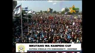 Uzinduzi kampeni CUF Kibandamaiti Zanzibar Sehemu ya kwanza