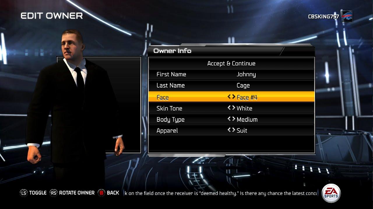 Madden 15 owner creation fantasy draft owner mode