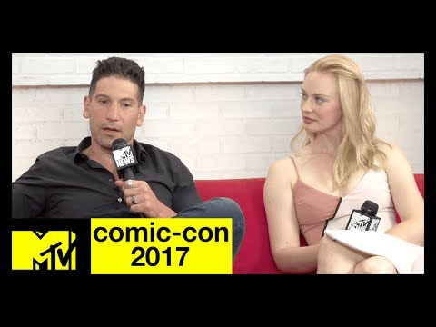 Jon Bernthal & Deborah Ann Woll on 'The Punisher'  ComicCon 2017  MTV