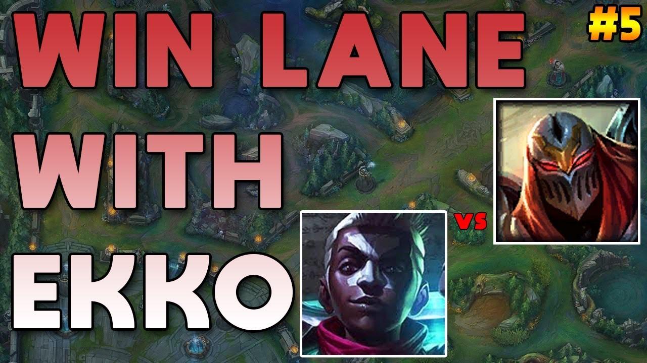 Maxske's Ekko   WIN LANE WITH EKKO! #5 ( EKKO vs Diamond ZED )