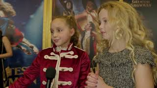 The Greatest Showman Interview Austyn Johnson  Cameron Seely 2