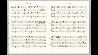 Japanese Army March for Two Pianos - 2台のピアノのための「陸軍分列行進曲」【ピアノ楽譜】