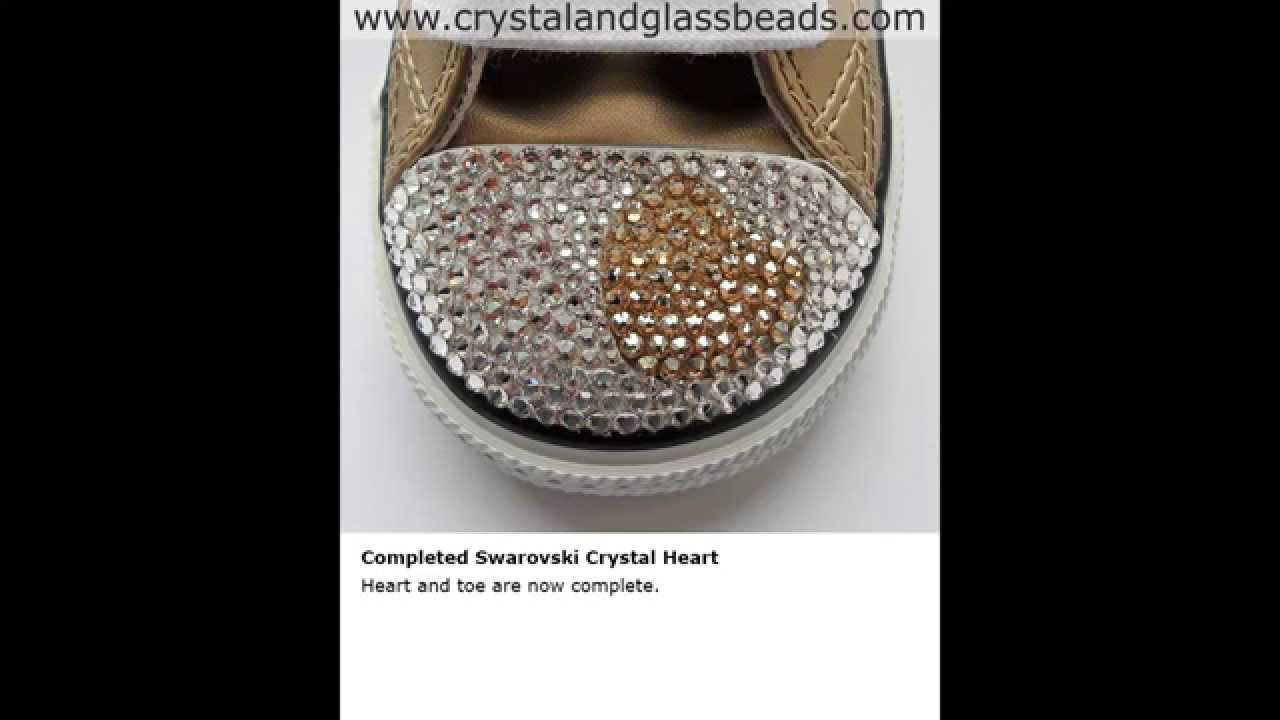 0f2048e46511 Converse Tutorial How to Crystallize a Heart With Rhinestones - YouTube
