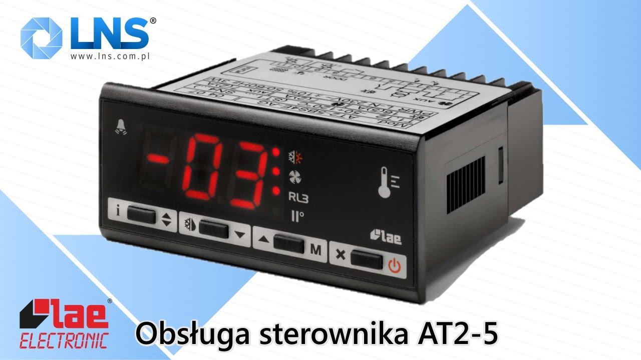 Obsługa sterownika AT2-5 LAE Electronic  Sterownik dla chłodnictwa  AT2-5  Electronic controller
