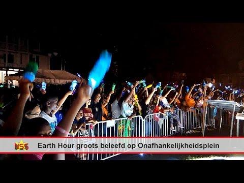 Earth Hour groots beleefd op Onafhankelijkheidsplein