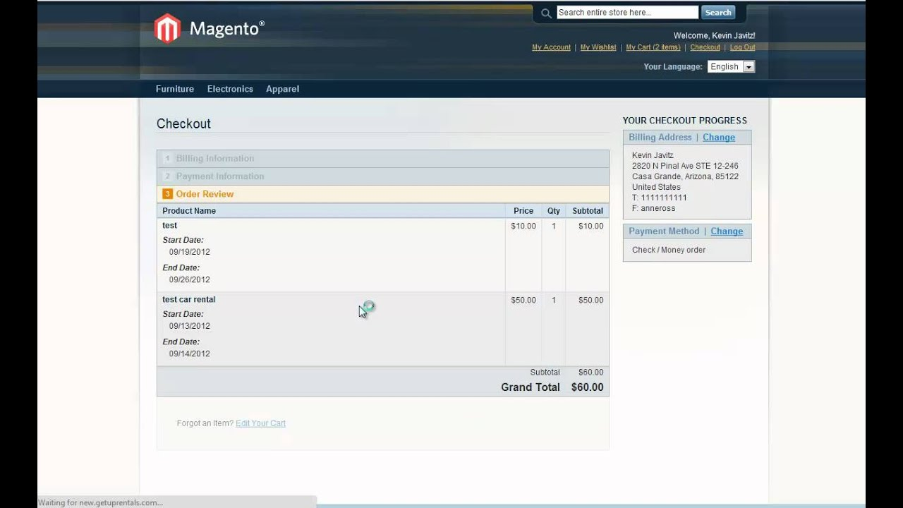 Magento Rental Booking E-commerce Hire Solution