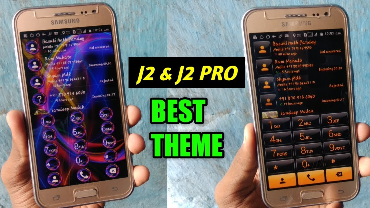 Best Dailer Themes For Galaxy J2 & J2 Pro | Without Root by Manoj Dey
