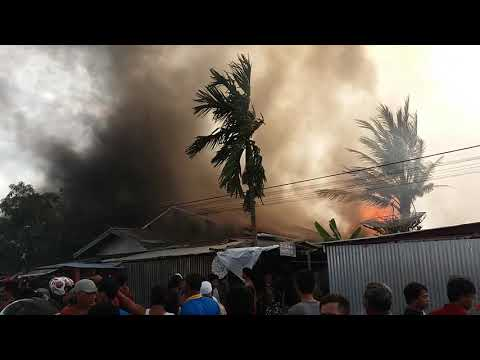 Kebakaran di jln Bengkinang kuala tungkal