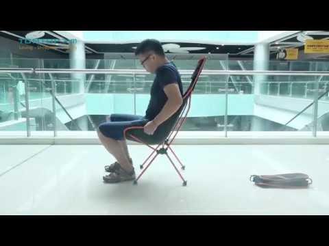 TOMSHOO Ultra Lightweight Folding Portable Outdoor  Lounger Chair