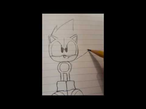 [How to draw] Sonic The Hedghog