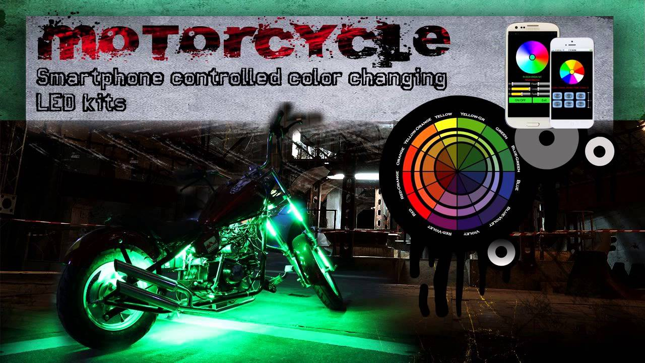 Control your motorcycle led lights with your smartphone - Control lights with smartphone ...