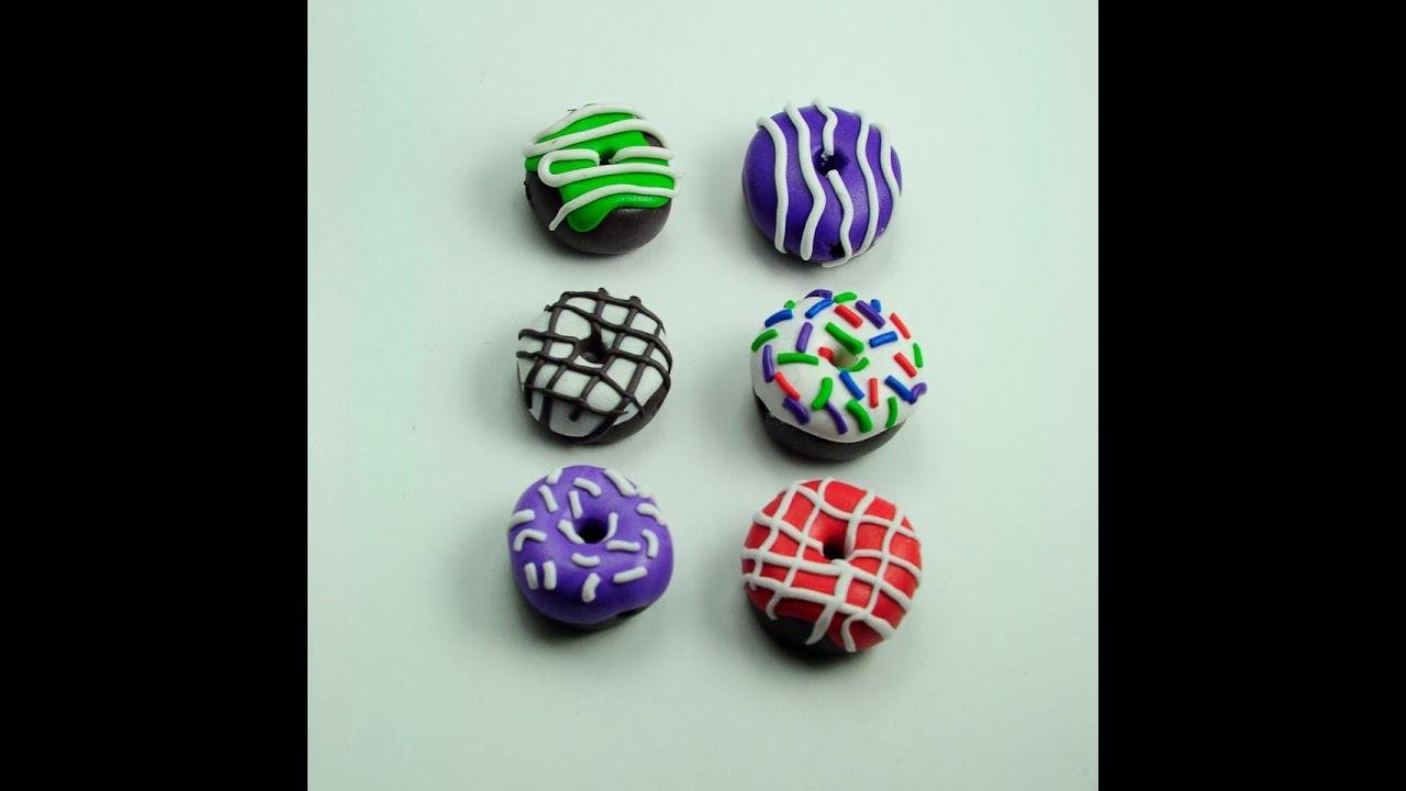 TUTORIAL Donuts de FimoArcilla Polimrica Donut Manualidades