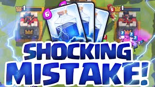 Clash Royale Strategy ♦ HUGE MISTAKE! ♦ Lightning In Royale ♦