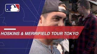Hoskins and Merrifield tour and taste Tokyo