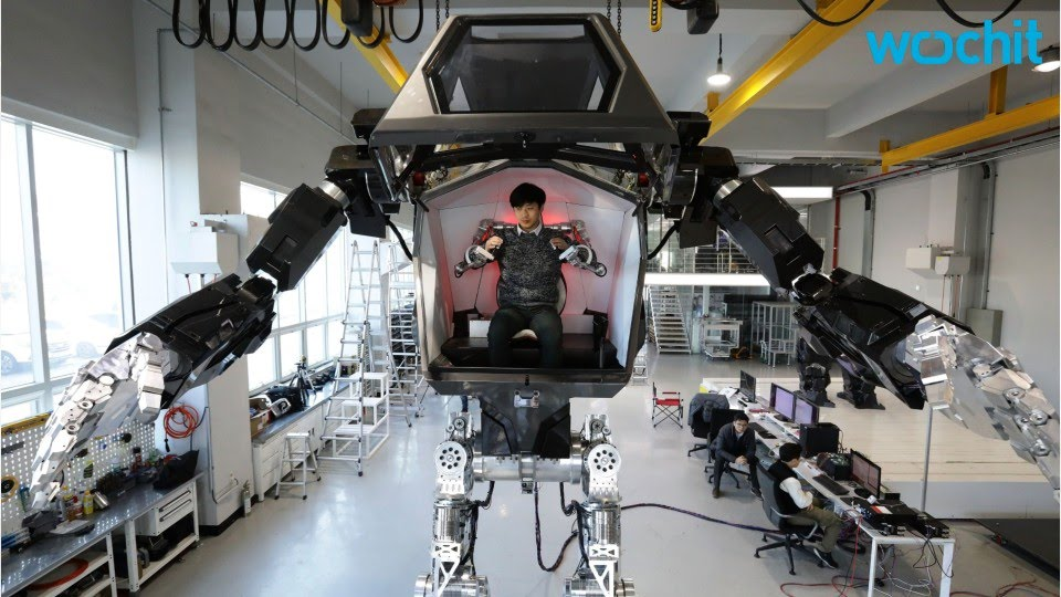 One Giant Step For Robot Suit With Man Inside Youtube