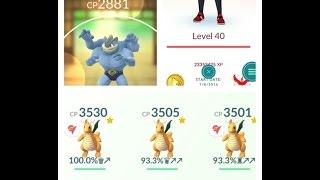 pokemon go level 40 machamp 2881 evolving 823 bulbasaur charmander squirtle level 10 gym