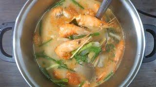 Тайская Кухня. Том Ям Кунг с креветками. Вариант с кокосовым молоком