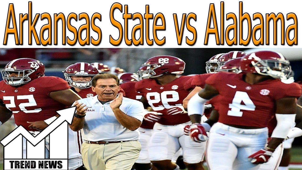 How To Watch Arkansas State Vs Alabama Online Live Stream Tv