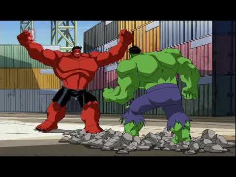 The Avengers Vs Red Hulk