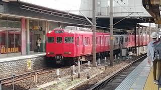 名鉄6000系6028F✙6800系6811F〘金魚鉢〙急行一宮行金山1番線発車