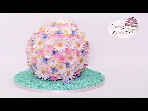 Blumenkugel Torte I Fruhlings Torte I Fondanttorte Von Nicoles