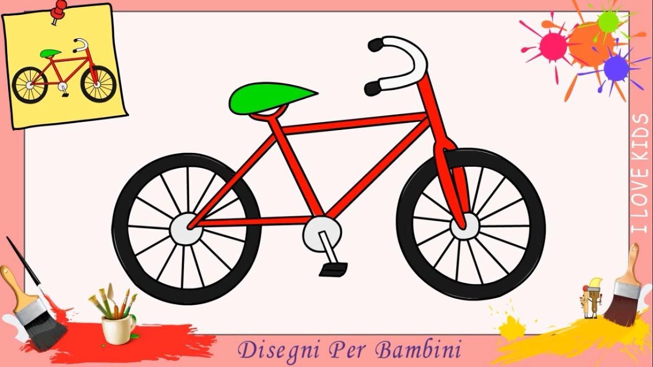 Come disegnare una bicicletta facile passo per passo per for Pesci da disegnare per bambini