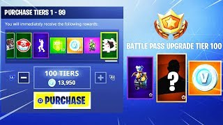 BUYING ALL SEASON 6 BATTLE PASS TIER 100 REWARDS! (Fortnite Battle Royale)